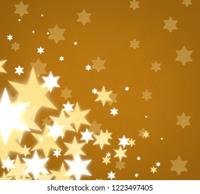 Abstract snowflakes. 2d illustration. Holy Christmas time decorative texture. Colorful background. Decorative paper card image. Christmas Eve decoration.