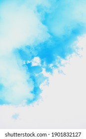 abstract soft blue watercolor on white background, divorce, cloudscape texture