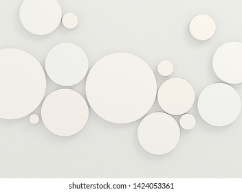 Abstract soft circles background. 3D illustration