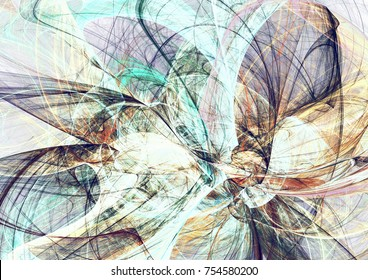 Abstract soft color motion composition. Modern futuristic dynamic background. Multicolor artistic pattern of paints. Fractal artwork for creative graphic design.