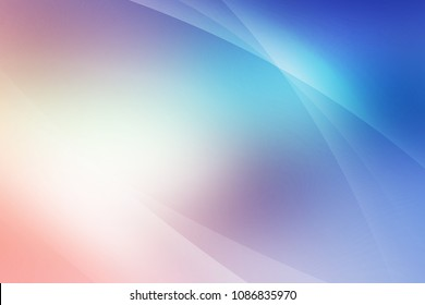 Abstract soft colored pink, purple, blue and dark blue background of abstrack with curves wave line overlay. Pink and purple light line curves effect abstract background.