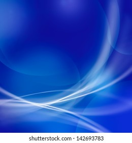 abstract soft line and bokeh on blue tone background.