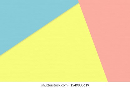 Abstract soft yellow pink and blue paper texture background  with pastel and vintage style.