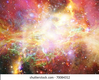 Abstract space fantasy illustration
