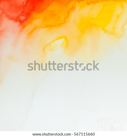 Abstract Space Hand Painted Watercolor Wet Background Colorful Template There Is Blank Place For