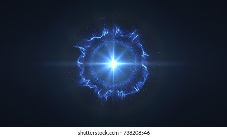 Abstract space or time travel concept background, intergalactic exploration supernova. Burst of Energy, fire, plasma. Graphical Resource and Illustration
