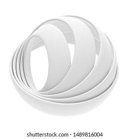 Abstract Sphere Background. Minimalistic Graphic Design. 3d Illustration