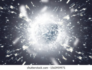 Abstract sphere created with 3D rendering