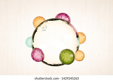 abstract sphere isolated on white background 3d illustration