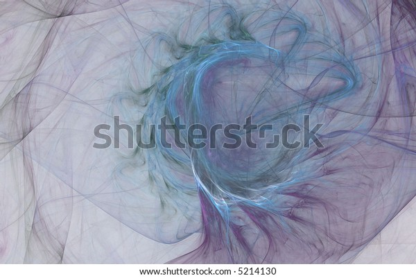 abstract spiral flame on the white background