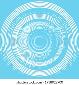 Abstract spiral pattern isolated on blue background for decorating, wallpaper, backdrop and etc.