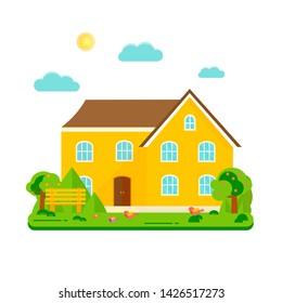 Pleasant Cartoon Home Images Stock Photos Vectors Shutterstock Download Free Architecture Designs Fluibritishbridgeorg
