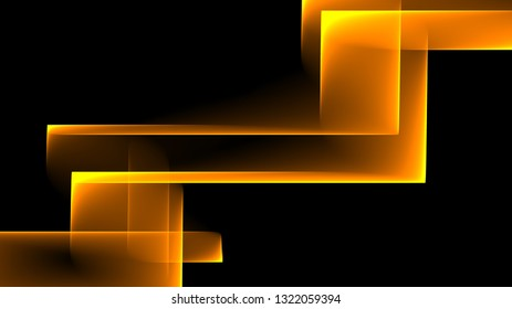 Abstract square and rectangle shapes illustration background yellow and black