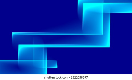 Abstract square and rectangle shapes illustration background Blue