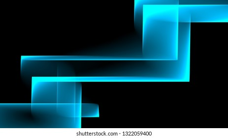 Abstract square and rectangle shapes illustration background Black and blue