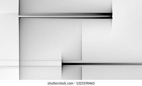 Abstract square and rectangle shapes illustration background Black and white
