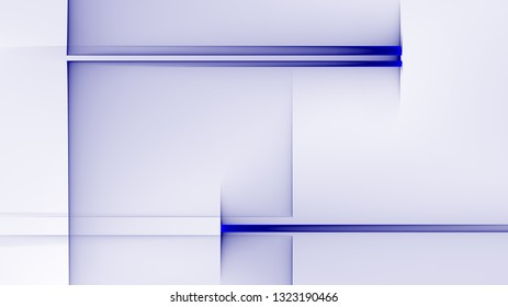 Abstract square and rectangle shapes illustration background Blue and white