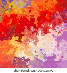abstract stained pattern texture background vibrant variegated red, orange, purple, pink and violet colors - modern painting art - watercolor effect