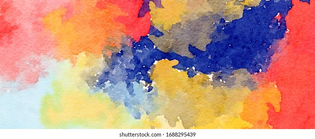 abstract stained pattern texture square background cute pastel. - modern painting art - watercolor splotch effect - Illustration