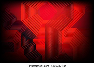 Abstract straight line on dark red background. Illustration background.