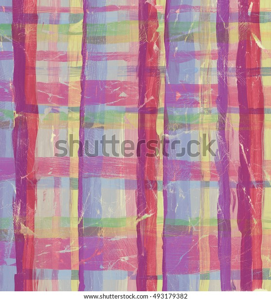 Abstract striped and squared colorful watercolor background