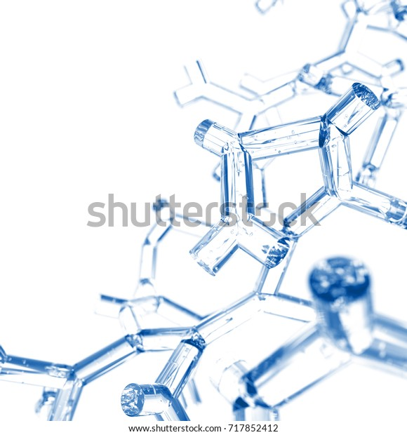 Abstract Structure Background. 3D illustration