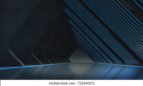 Abstract structure,Product showcase background with light glow.3D rendering