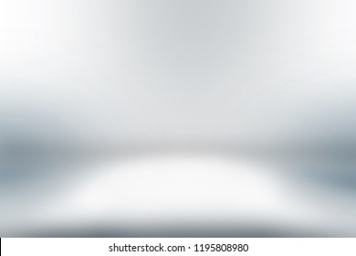 Abstract studio gradient background empty white wall in white room template with bright clear light, can use for interior background and your products display