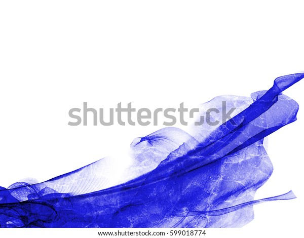 abstract style smoke blue line ornament background, frame abstract