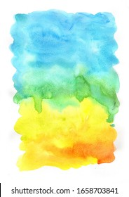 Abstract summer rainbow watercolor painting background for decoration on summer holiday events and LGBT artwork.