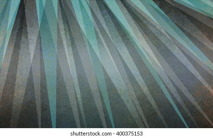 abstract sun ray or starburst pattern background in black gray and teal blue green triangle layer design