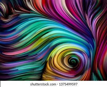 Abstract swirls in rich color on subject of abstract art, dynamic design and creativity. Color Swirl series.
