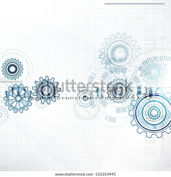 Abstract Tech Background Stock Illustration 526263445