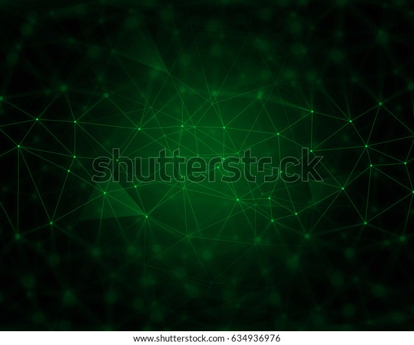 Abstract techno background with connecting lines