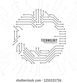 Abstract Technology Background. Circuit texture. Connections of the circuit. illustration