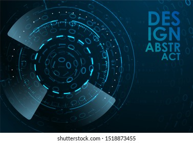 Abstract technology background. Futuristic interface element. Digital innovation concept for your design
