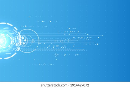 Abstract technology communication background. Digital innovation concept for your design.