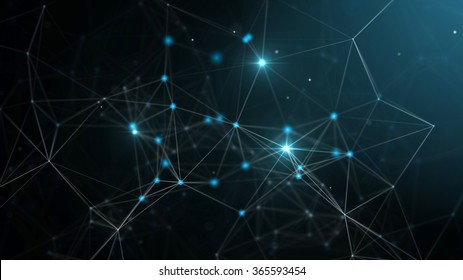Abstract technology futuristic network - fantasy plexus background