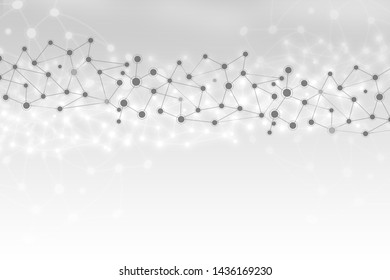 Abstract technology geometric polygonal lines background illustration, medical concept,