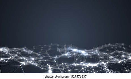 Abstract technology and science background futuristic network, plexus background.