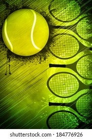 Abstract tennis invitation advert background with empty space