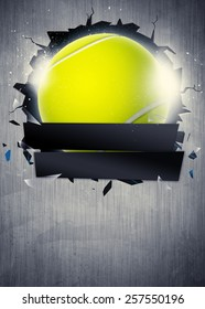 Abstract tennis sport invitation poster or flyer background with empty space
