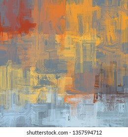 Abstract texture. 2d illustration. Expressive handmade oil painting. Brushstrokes on canvas. Modern art. Multi color backdrop. Contemporary brush. Colorful digital backdrop.