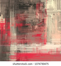 Abstract texture. 2d illustration. Expressive handmade oil painting on canvas. Wide brushstrokes. Modern digital art. Multi color backdrop. Contemporary brush. Expression. Popular style image.
