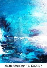 Abstract texture background. Abstract oil painting on canvas.  Contemporary art. Fragment or artwork.