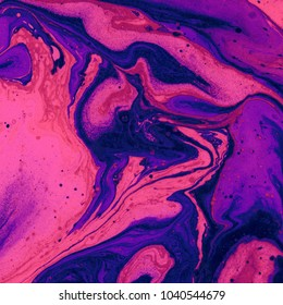 Abstract texture. Marble effect painting. Mixed oil paints. Unusual trendy background for posters, cards, invitations, wallpapers, websites. Vivid colours.