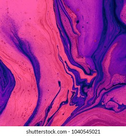 Abstract texture. Marble effect painting. Liquid oil paints. Unusual trendy background for posters, cards, invitations, websites, wallpapers. Vivid colours.