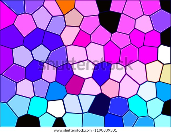 Abstract Texture Multicolored Geometric Illustration Mosaic Stock ...
