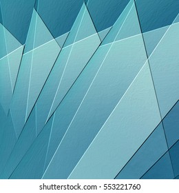abstract textured background with light and dark blue triangle fan shapes in cool geometric pattern with