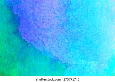 Abstract textured watercolor on rice paper background - holiday set. The blue sea. Backgrounds & textures shop.